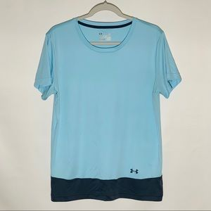 Under Armour two-tone Heat gear short sleeve tee L
